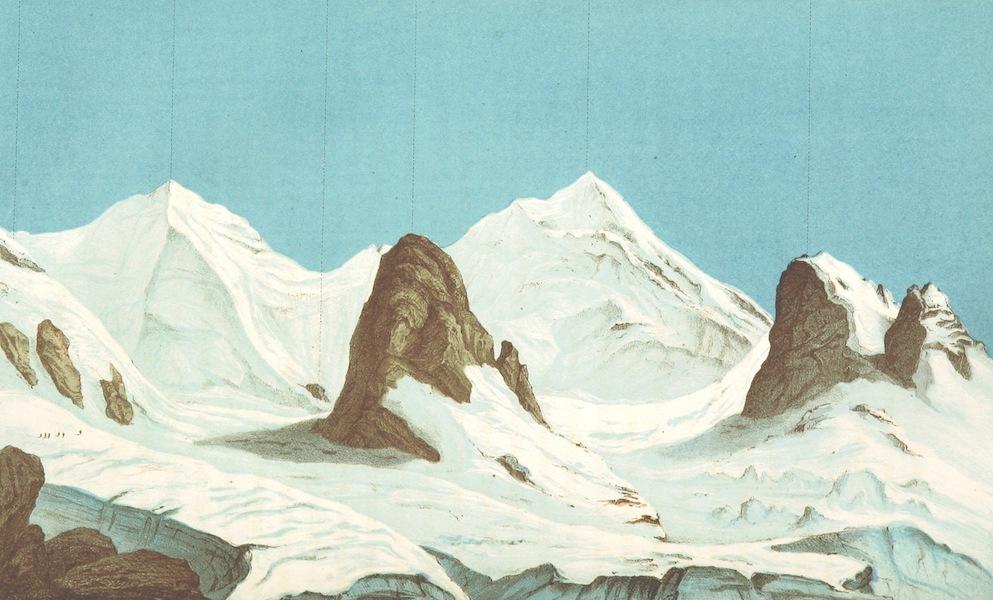 The Doldenhorn and Weisse Frau - The Blumlisalp from the Oeschinengrat (1863)