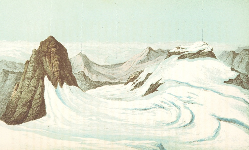 The Doldenhorn and Weisse Frau - View to the North (1863)