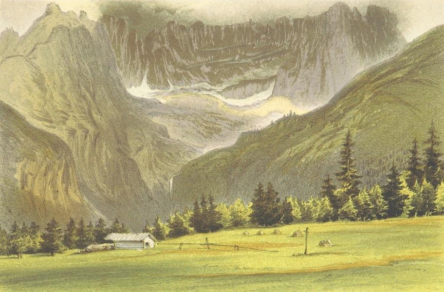 The Dolomite Mountains - Cirque of the Croda Malcora, near Cortina (1864)