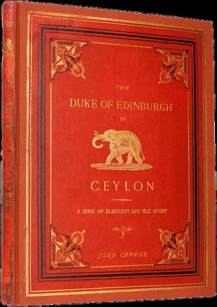 The Duke of Edinburgh in Ceylon - Book Display (1871)
