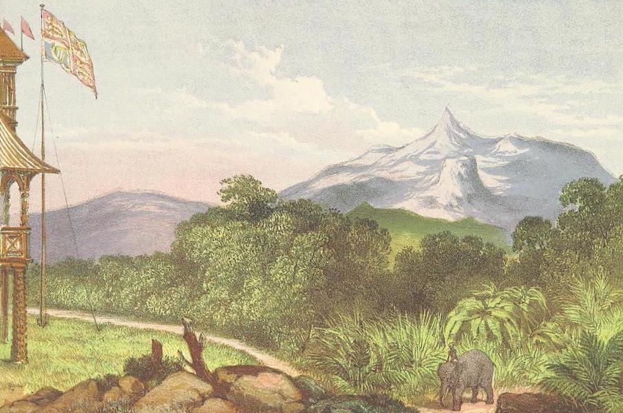 The Duke of Edinburgh in Ceylon - Adam's Peak from the Duke's Pavilion (1871)