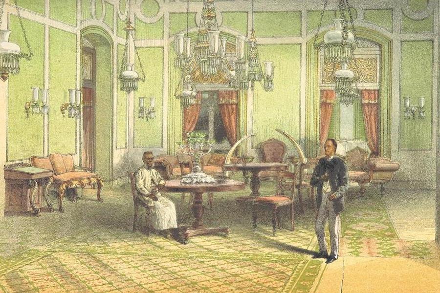 The Duke of Edinburgh in Ceylon - Reception-Room in Alfred House (1871)
