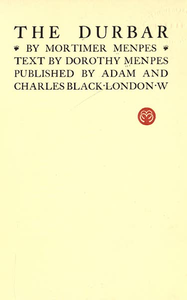 The Durbar - Title Page (1903)