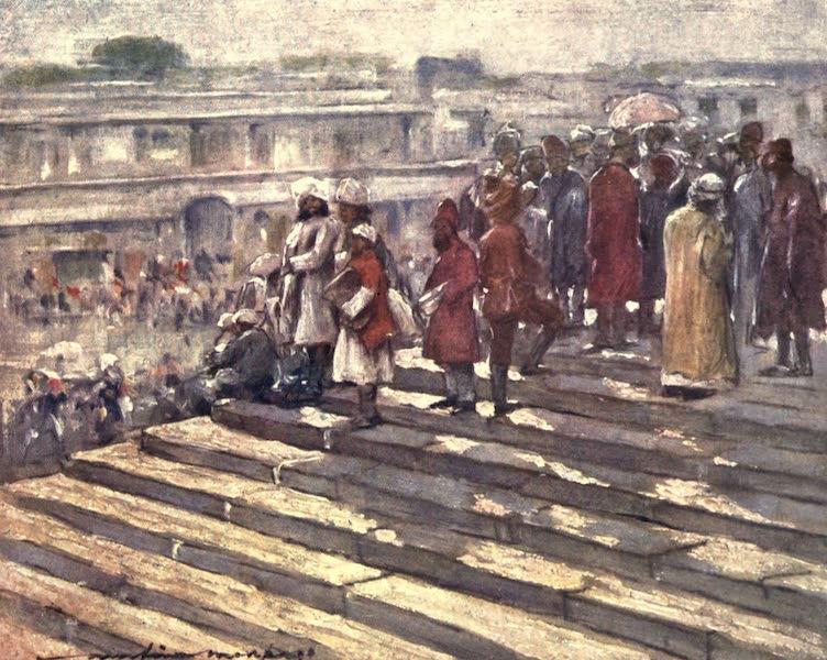 The Durbar - On the Steps of the Jumma Masjid (1903)