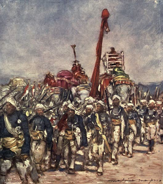 The Durbar - A Typical Group in the Retainers' Procession (1903)