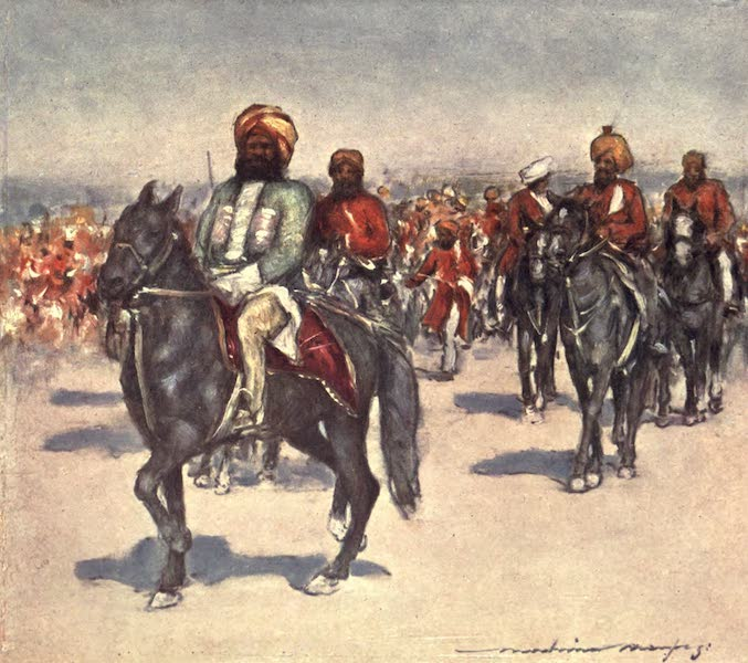 The Durbar - Native Horsemen in the Review of Native Retainers (1903)