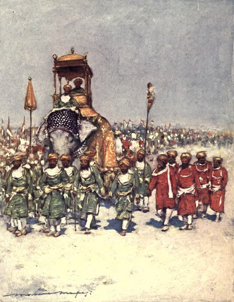 The Durbar - One of the most picturesque Groups in the Retainers' Procession (1903)