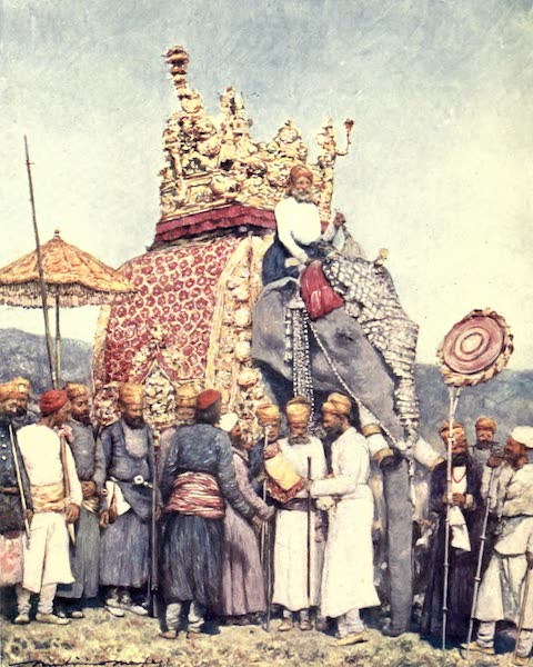 The Durbar - An Elephant and Retainers from Bikanir (1903)