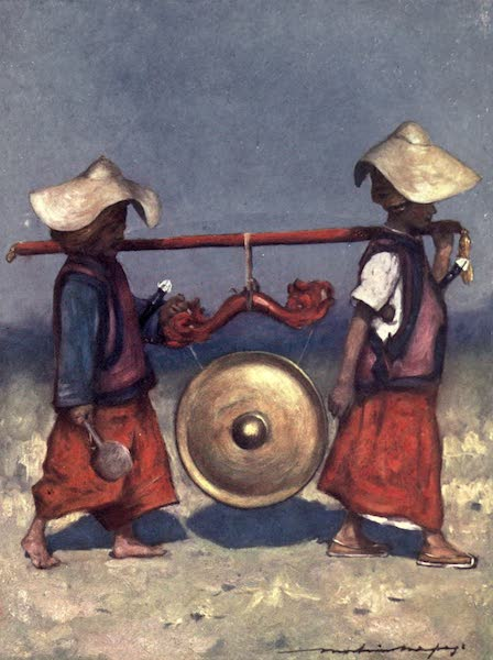 The Durbar - Shan Retainers carrying Brass Gong (1903)