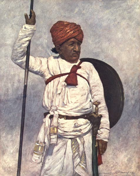The Durbar - An Armed Retainer of the Bombay Chiefs (1903)