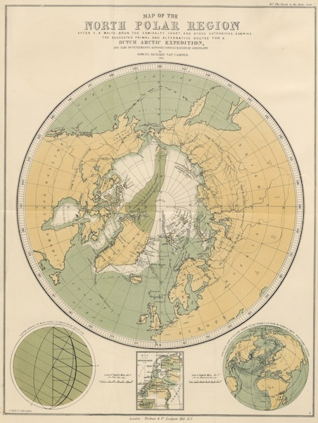 The Dutch in the Arctic Seas - Map of the North Polar Region (1878)