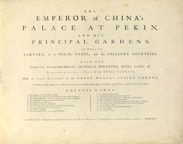 Getty Research Institute - The Emperor of China's Palace at Pekin