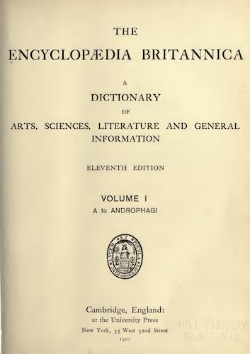 World - Encyclopaedia Britannica Vol. 1