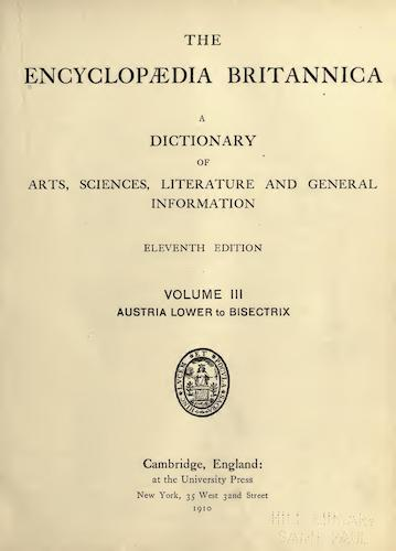 Encyclopedias - Encyclopaedia Britannica Vol. 3