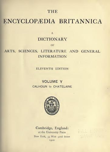 Encyclopedias - Encyclopaedia Britannica Vol. 5
