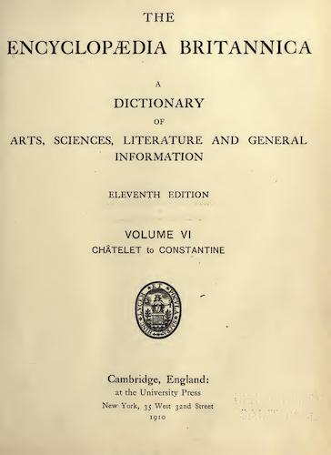 World - Encyclopaedia Britannica Vol. 6