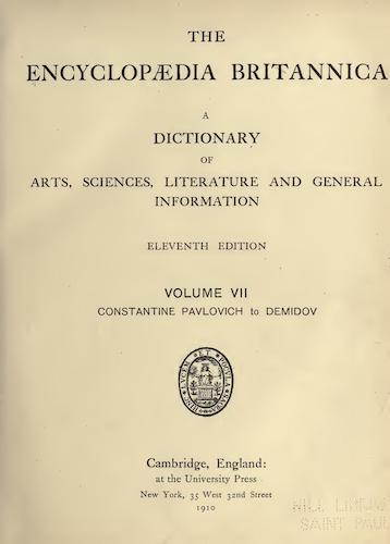 Encyclopedias - Encyclopaedia Britannica Vol. 7