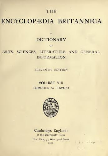 Encyclopedias - Encyclopaedia Britannica Vol. 8