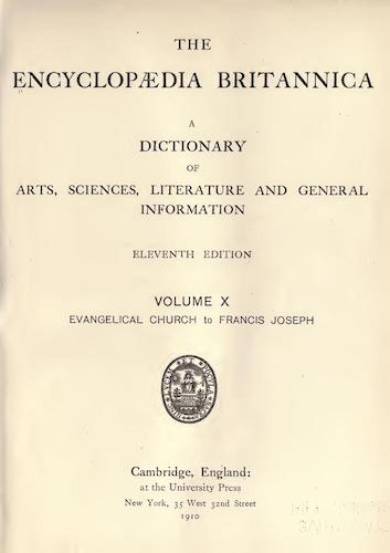 Encyclopedias - Encyclopaedia Britannica Vol. 10