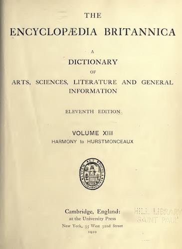 World - Encyclopaedia Britannica Vol. 13