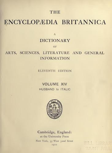 Encyclopedias - Encyclopaedia Britannica Vol. 14