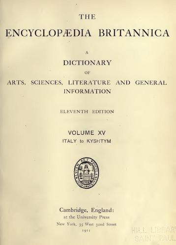 Encyclopedias - Encyclopaedia Britannica Vol. 15
