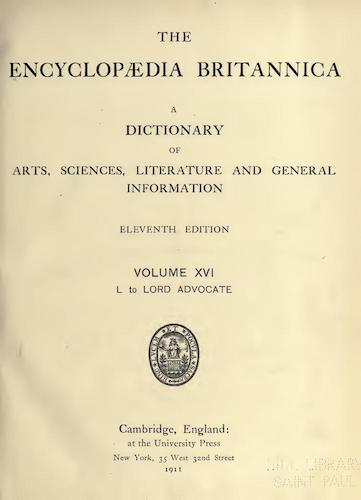 World - Encyclopaedia Britannica Vol. 16