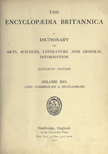 Encyclopedias - Encyclopaedia Britannica Vol. 17