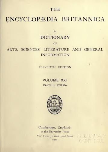 Encyclopedias - Encyclopaedia Britannica Vol. 21