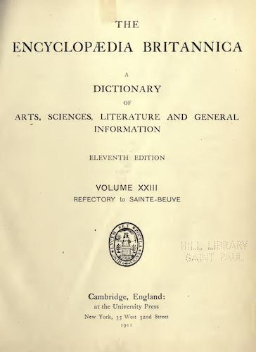 World - Encyclopaedia Britannica Vol. 23