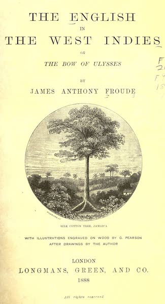 The English in the West Indies - Title Page - Silk Cotton Tree, Jamaica (1888)