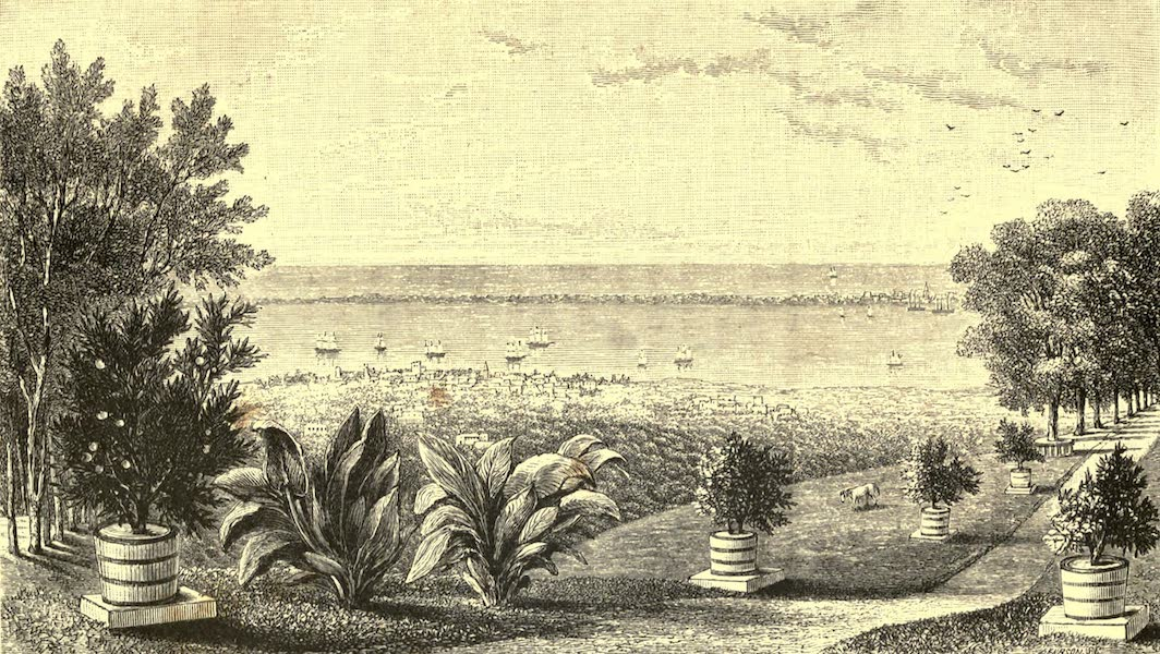The English in the West Indies - Kingston and Harbour, from Cherry Garden (1888)