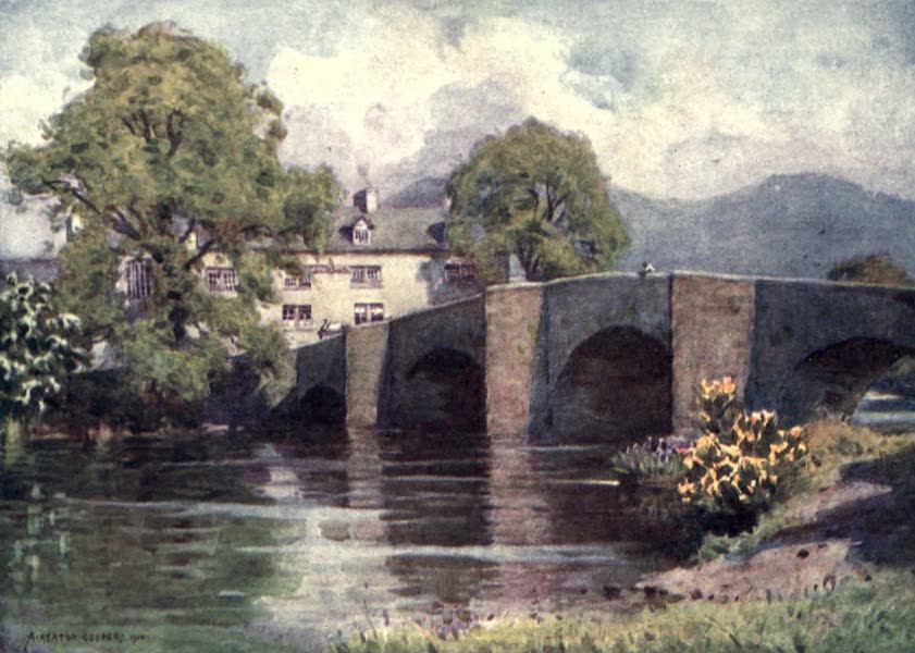 The English Lakes Painted and Described - Swan Inn, Newby Bridge, Windermere (1908)