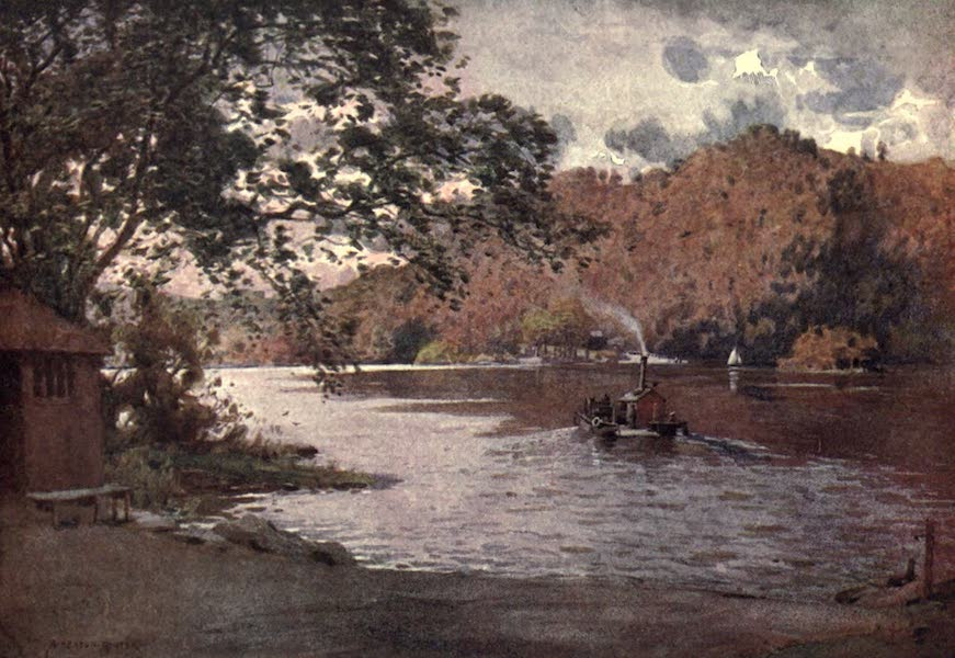 The English Lakes Painted and Described - The Old Ferry, Windermere (1908)