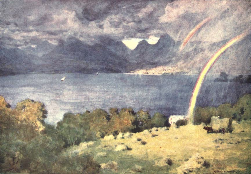 The English Lakes Painted and Described - Windermere and Langdale Pikes, from Lowwood (1908)