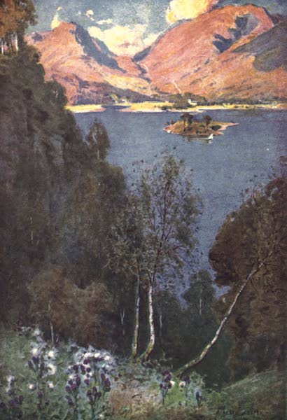 The English Lakes Painted and Described - A Glimpse of Grasmere (evening sun) (1908)
