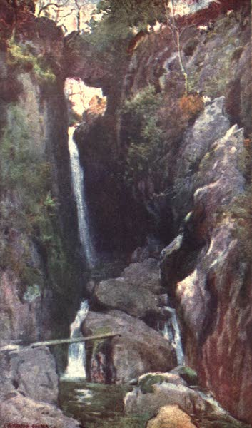 The English Lakes Painted and Described - Dungeon Ghyll Force, Langdale (1908)