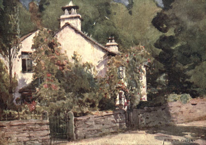 The English Lakes Painted and Described - Dove Cottage, Grasmere (1908)