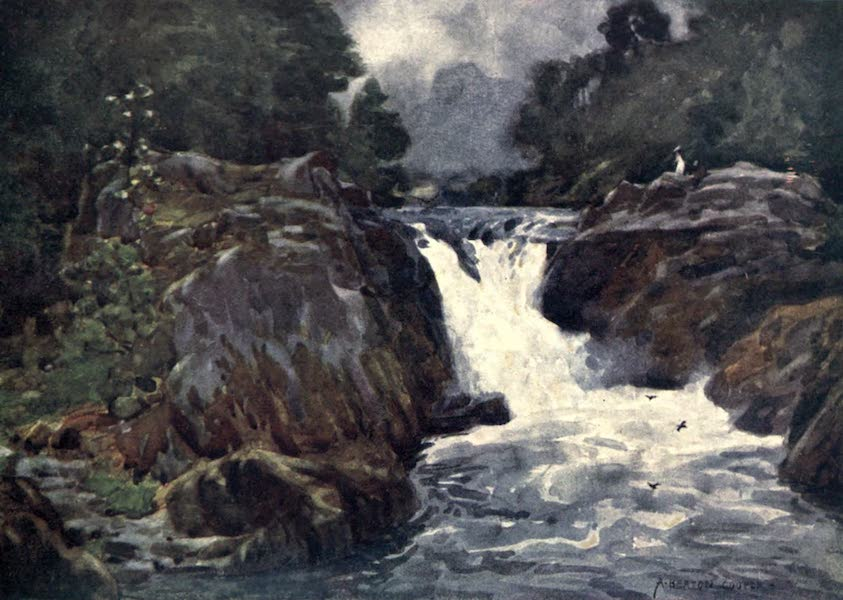The English Lakes Painted and Described - Skelwith Force, Langdale (1908)