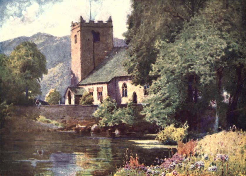 The English Lakes Painted and Described - Grasmere Church (1908)
