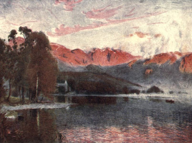 The English Lakes Painted and Described - Dawn, Coniston (1908)