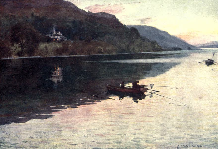 The English Lakes Painted and Described - Brantwood, Coniston Lake : Char-fishing (1908)