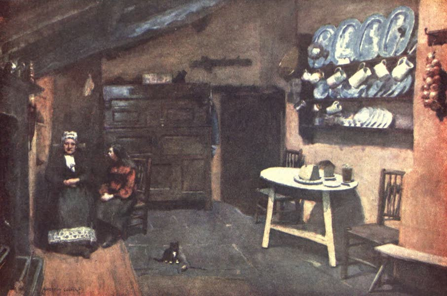 The English Lakes Painted and Described - An Old Inn Kitchen, Coniston (1908)