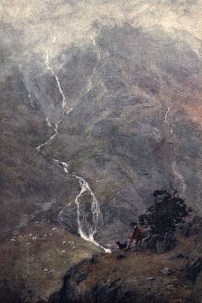 The English Lakes Painted and Described - The Shepherd, Yevvdale, Coniston (1908)