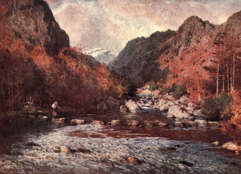 The English Lakes Painted and Described - Stepping-Stones, Seathwaite (1908)