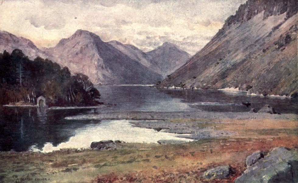 The English Lakes Painted and Described - Wastwater, from Strands (1908)