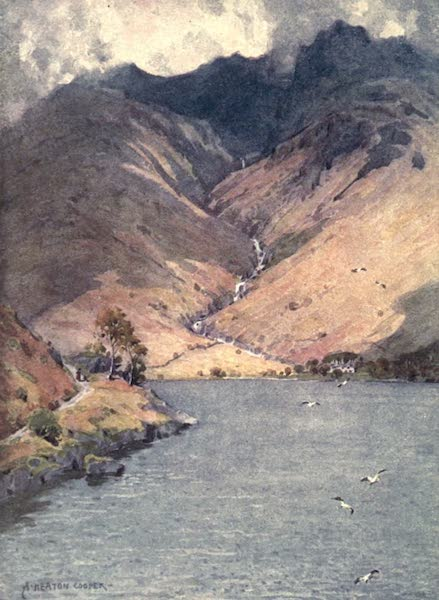 The English Lakes Painted and Described - Wastwater and Scawfell (1908)