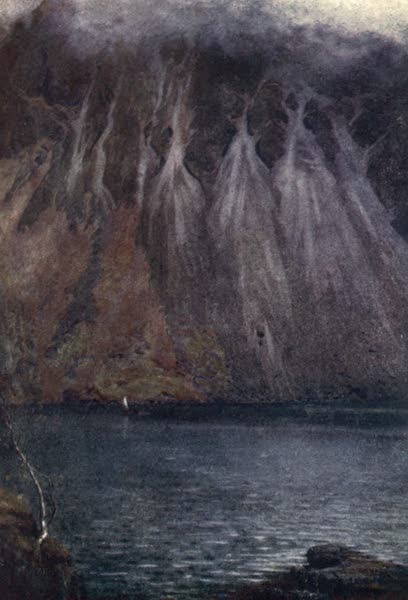 The English Lakes Painted and Described - Wastwater Screes (1908)