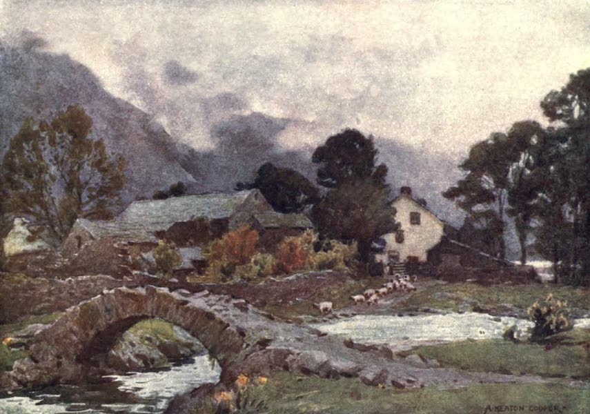The English Lakes Painted and Described - Wastdalehead, Wastwater (1908)