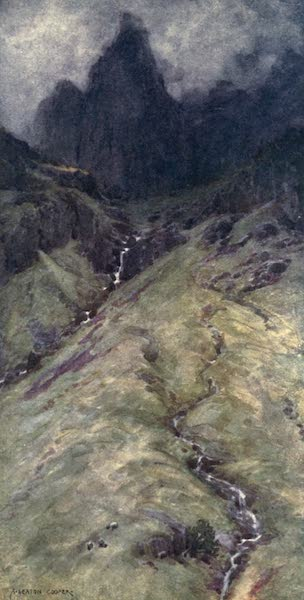 The English Lakes Painted and Described - The Pillar Rock of Ennerdale (1908)